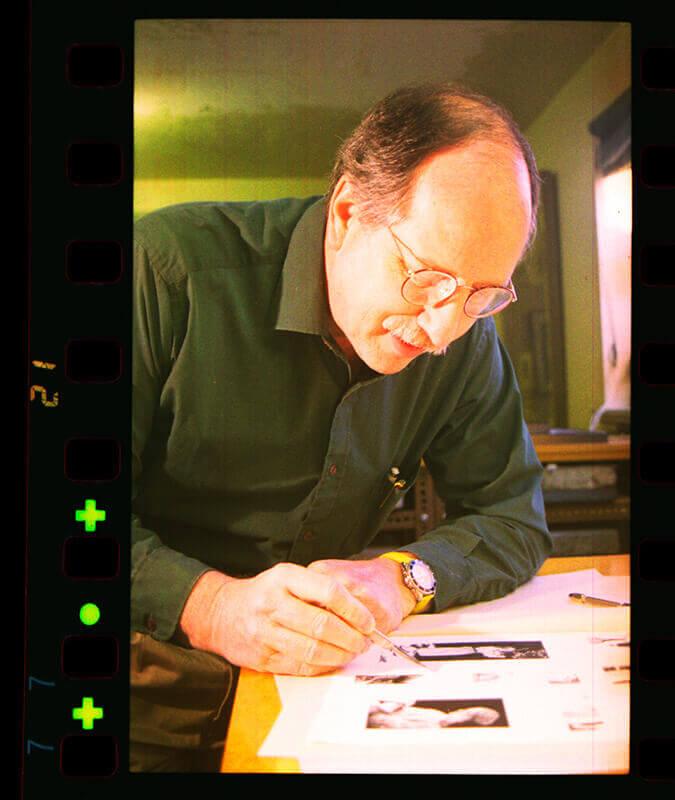 W. Wayne Kimball with Lithographs