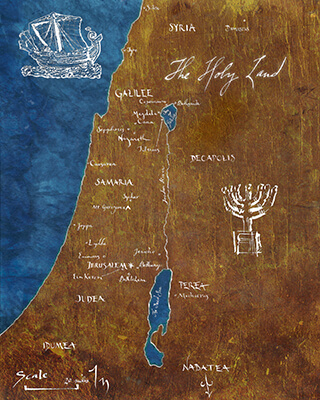Ancient Palestine, Map No. 1