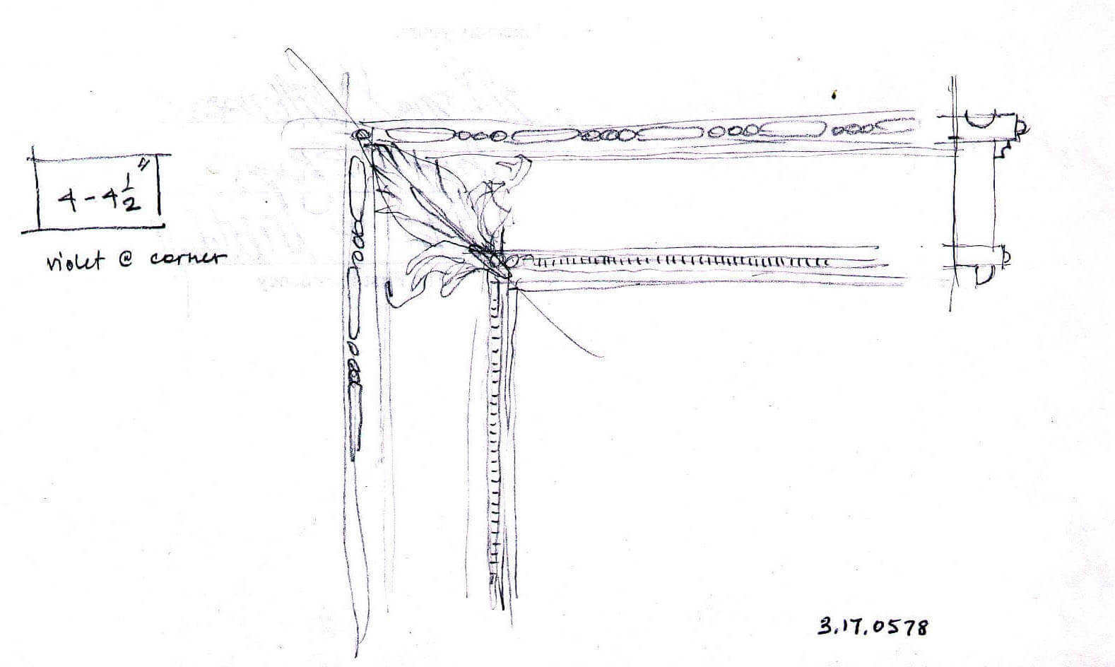 Most custom frames begin with a concept sketch, such as this drawing for the frame eventually create...