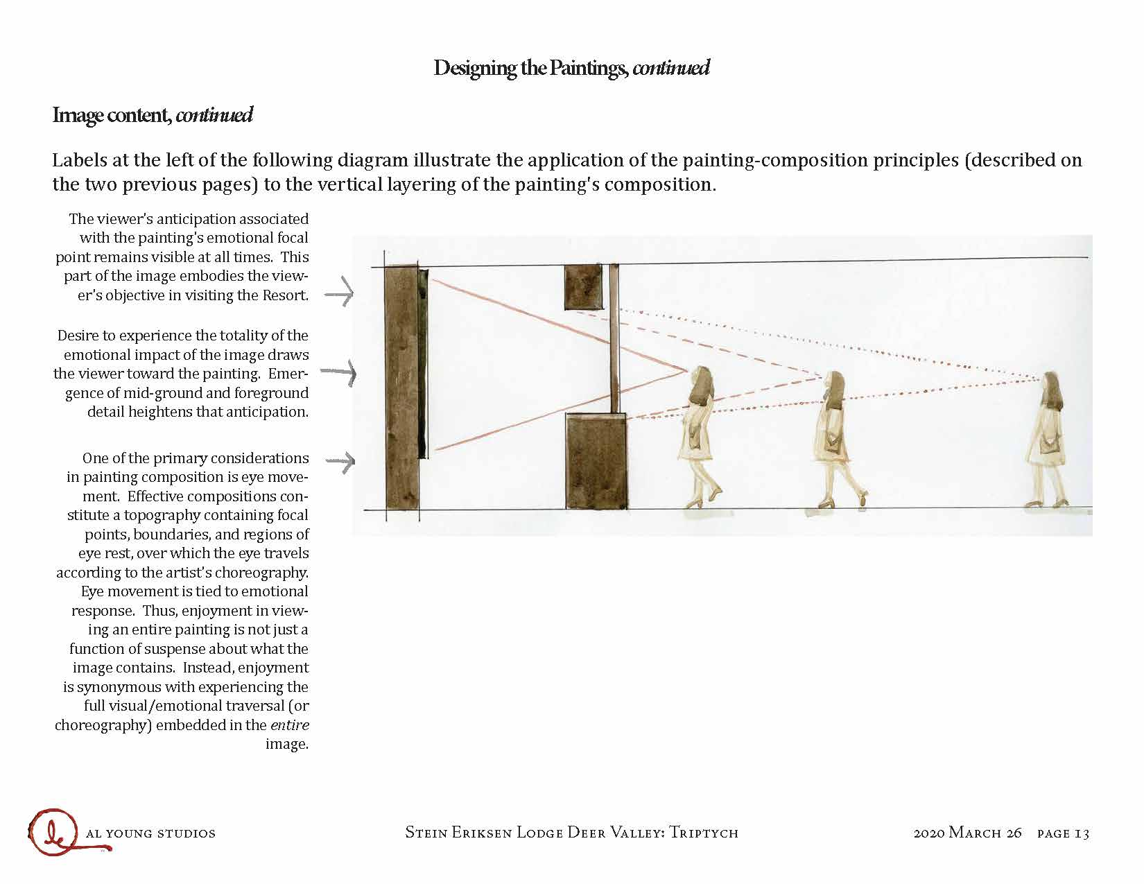 Following the February site visit, the Studios prepared a design document setting forth principles i...
