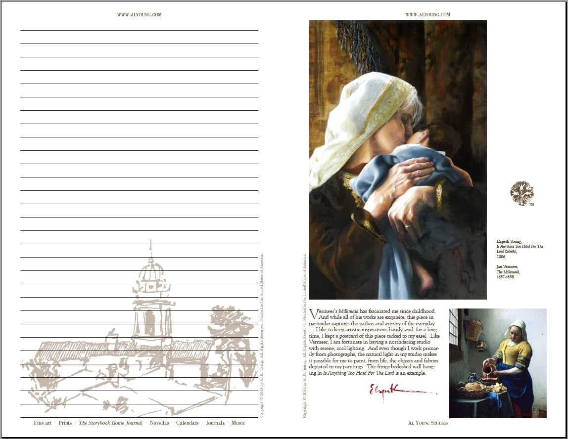Sample double-page spread