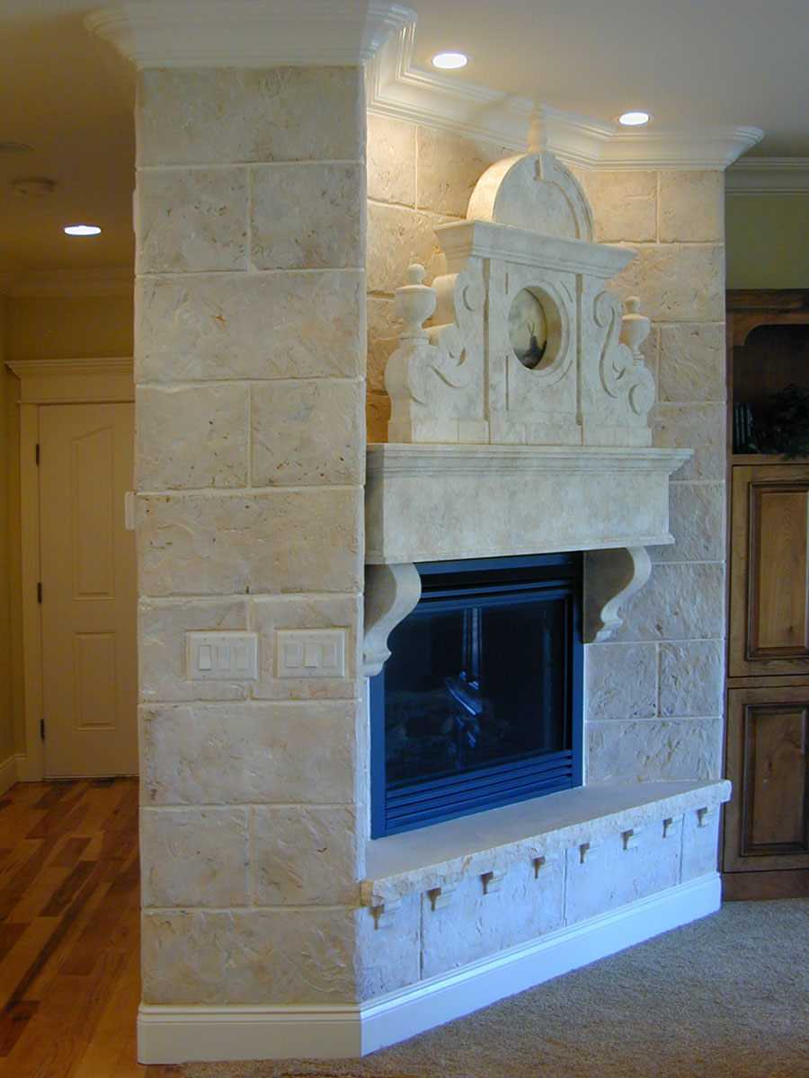 A unique livingroom fireplace.See more . . .