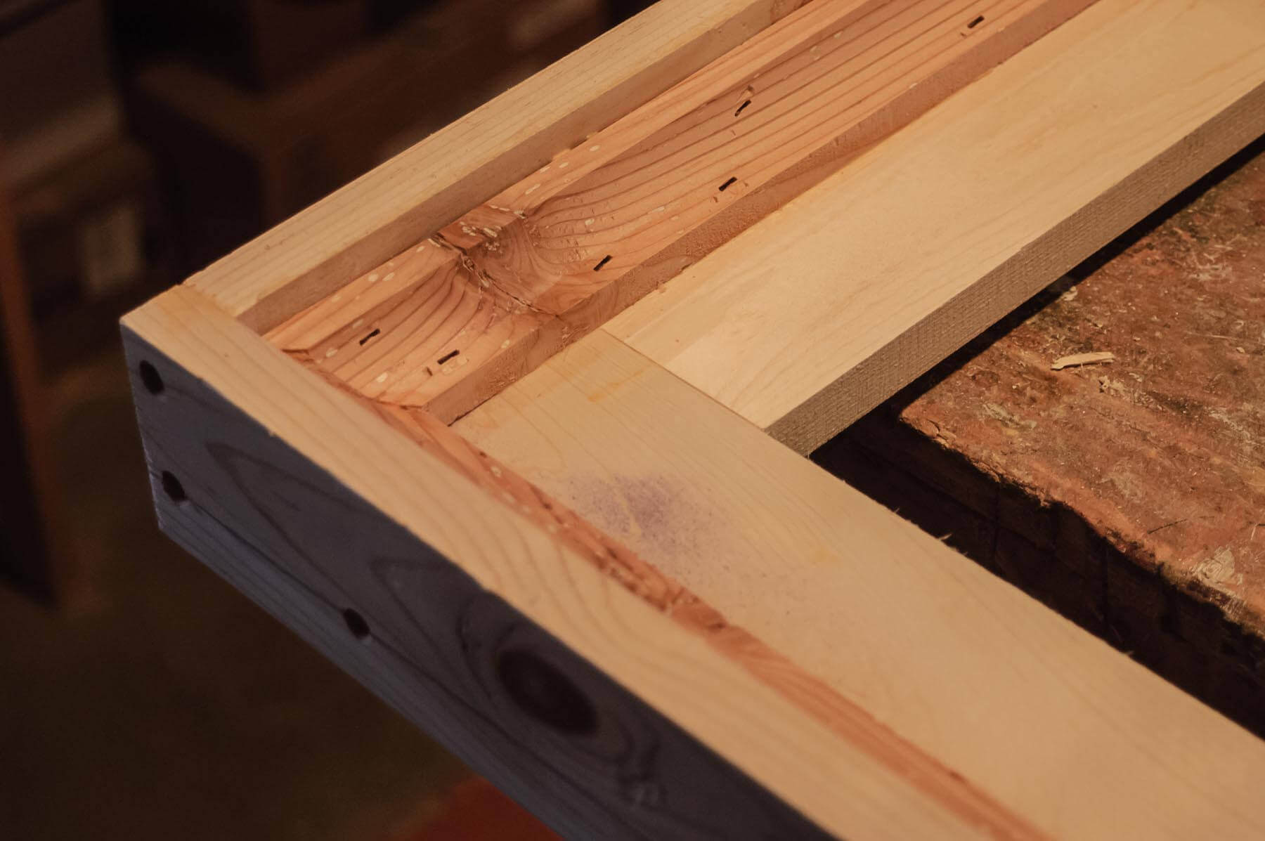 Using weathered wood, an early step in the design process was to fabricate a sample of the moulding ...