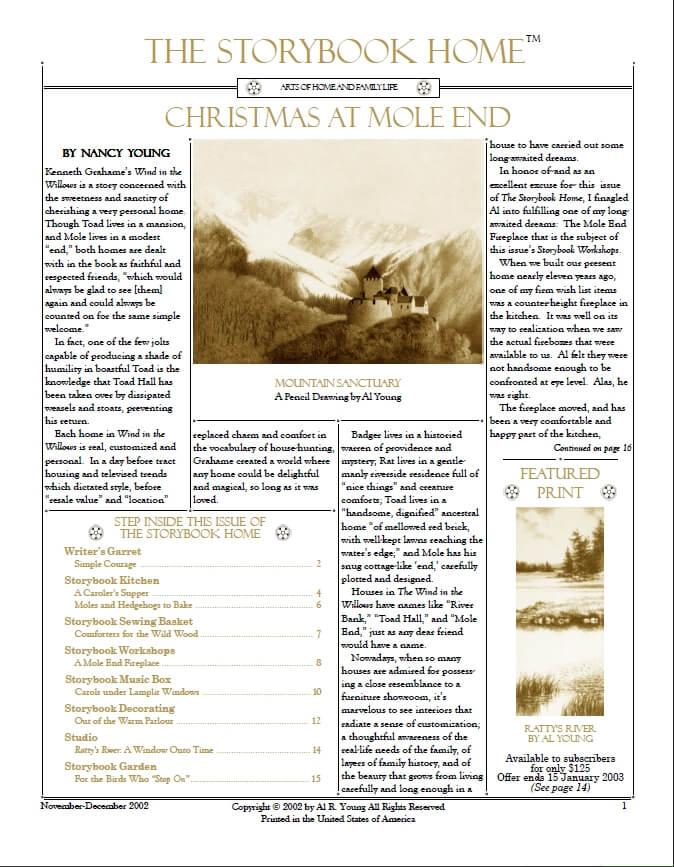 Vol. 3 No. 1Christmas At Mole End