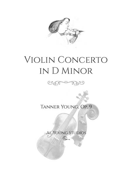 Violin Concerto in D Minor (Violin+Full Orchestra) by Tanner Young