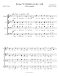 Come, Ye Children of the Lord - SATB (2011)