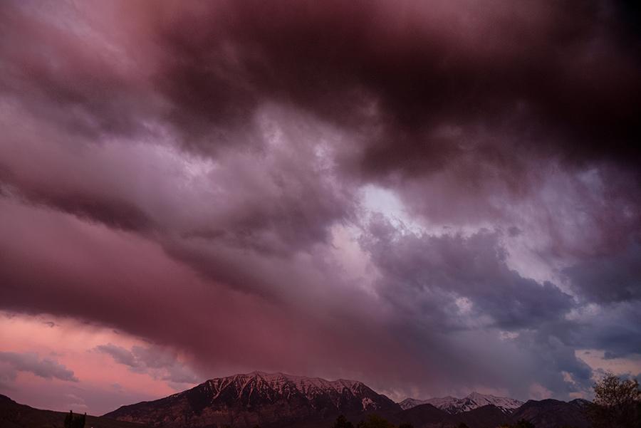 Last Light through the Storm