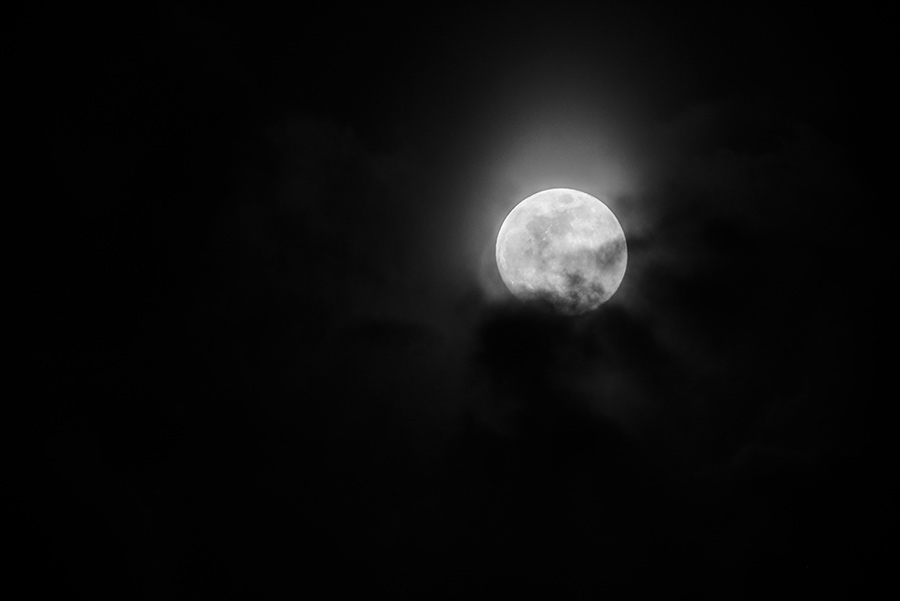 Moon through the Clouds, II