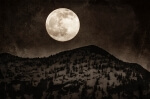 Vintage Moonrise - 8 x 12 giclée on canvas (pre-mounted)