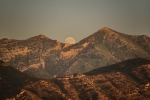 Moonrise between the Peaks - 8 x 12 giclée on canvas (pre-mounted)