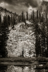 Beyond the Mountain Lake - 8 x 12 giclée on canvas (pre-mounted)